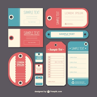 Vintage label tags template Free Vector
