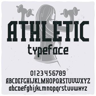 Винтажный шрифт этикетки с названием