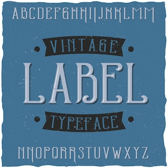 Vintageという名前のビンテージラベル書体。