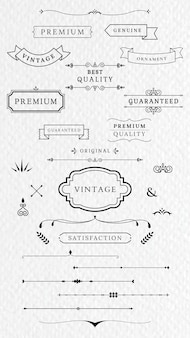 Vintage labels and banners