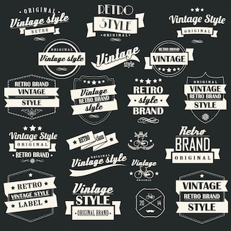 Vintage labels collection