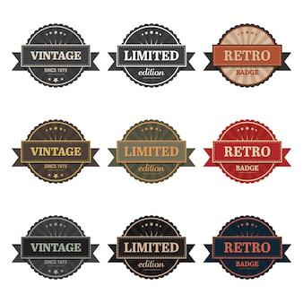 Vintage labels   illustration  on white background