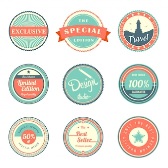 Vintage labels template set