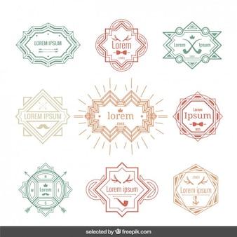 Vintage labels template