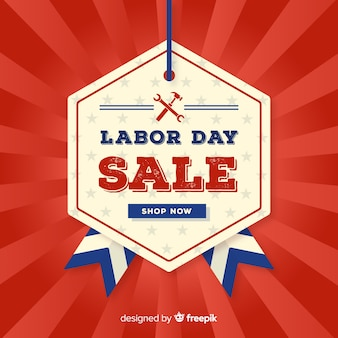 Vintage labor day sale background