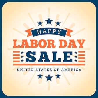 Vintage labor day sale concept