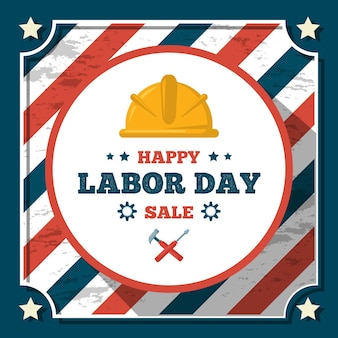 Vintage labor day sale theme