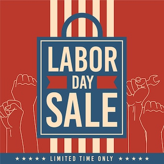 Vintage labor day usa concept