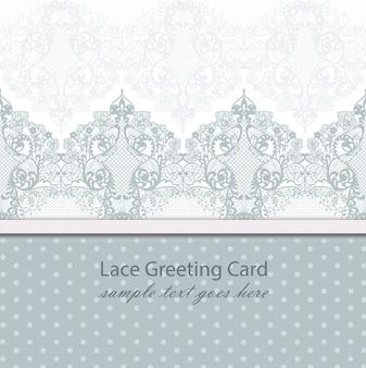 ヴィンテージレースの背景ベクトル手作りの装飾品青