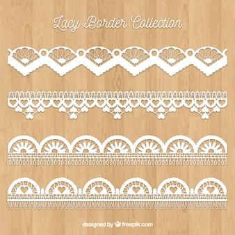 Vintage lace borders set