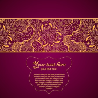 Vintage lace ornament card with  text