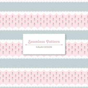 Vintage lace and roses seamless pattern