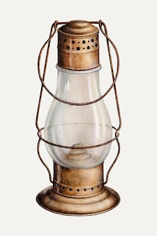 Vintage lantern vector illustration, remixed from the artwork by samuel w. ford