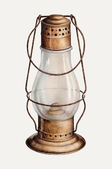Винтажный фонарь векторная иллюстрация, ремикс из работы сэмюэля у. форда