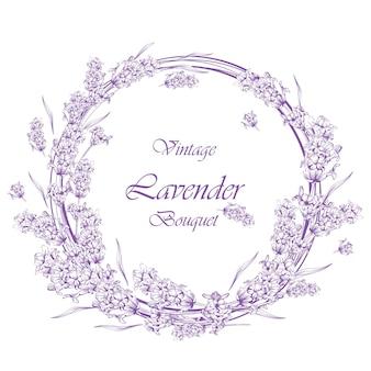 ヴィンテージラベンダーの花輪