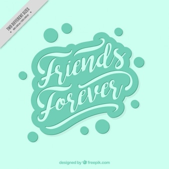 Vintage lettering background of friendship day