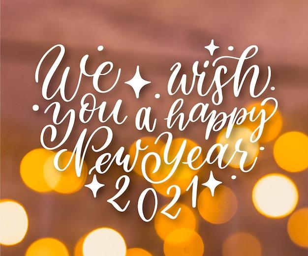 Lettering vintage felice anno nuovo 2021