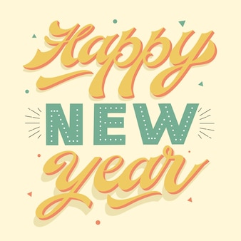 Vintage lettering happy new year