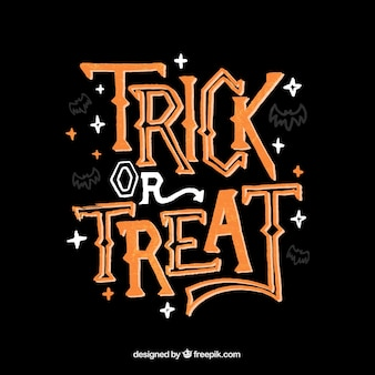 Vintage lettering of trick or treat
