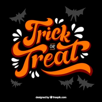 Vintage lettering trick or treat