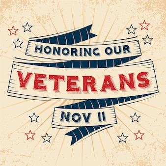 Vintage lettering veterans day wallpaper