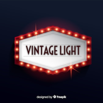 Vintage light billboard
