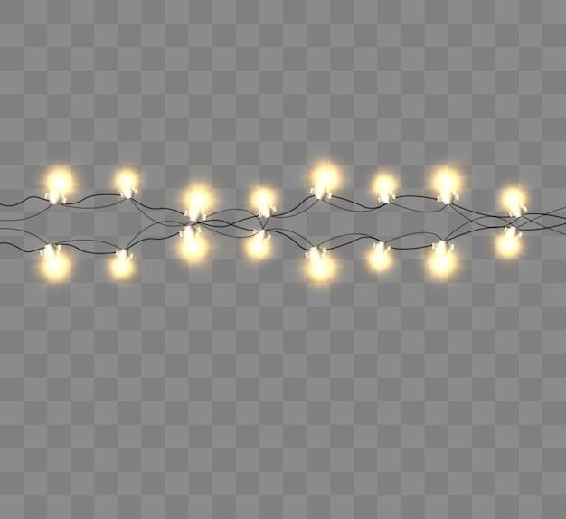 Винтажная изолированная строка лампочки.