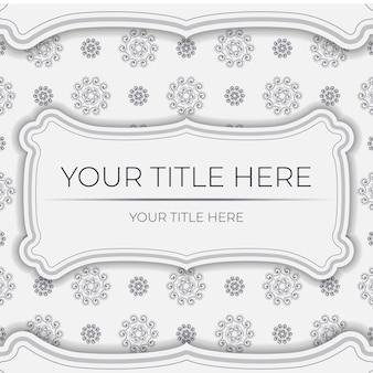 추상 장식으로 빈티지 라이트 컬러 엽서 준비입니다. 만다라 패턴이 있는 인쇄용 디자인 초대 카드용 벡터 템플릿입니다.
