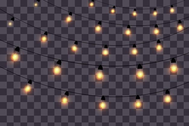 Vintage lights isolated