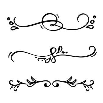 Vintage linear elegant dividers