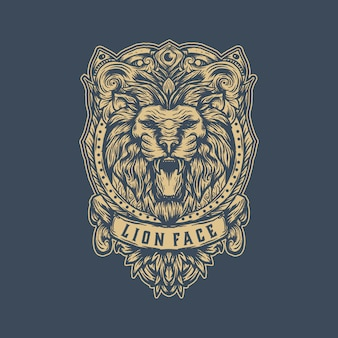 Vintage lion logo template