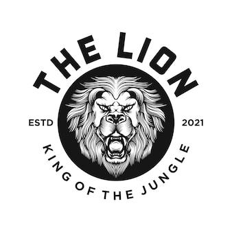 Старинный лев логотип