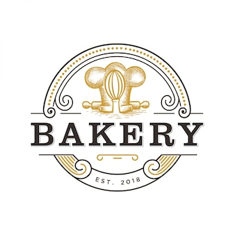 Vintage logo for bakery
