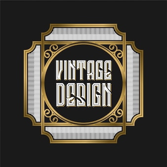 Vintage logo for coffee label or restaurant and cafe