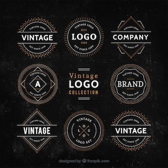 Vintage logo collection