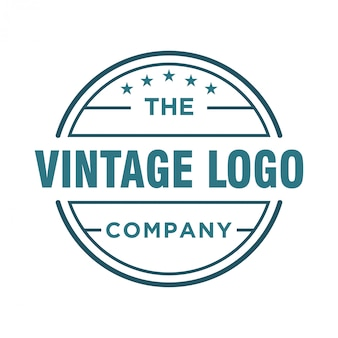 Vintage logo design for food and drink
