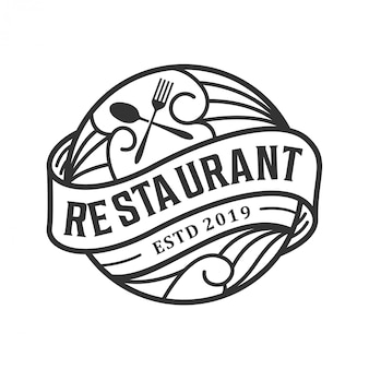 Vintage logo design for restaurant