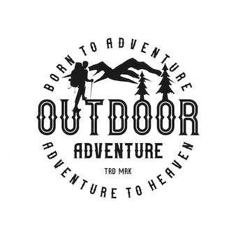 Vintage logo outdoor monogram
