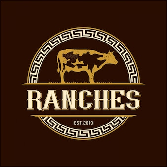 Vintage logo for ranches