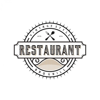 Vintage logo for restaurant food and drink