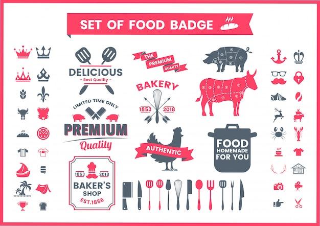 Vintage logo set of restaurant