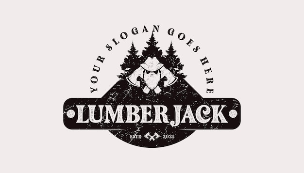 Vintage logo, timberland,woodman,lumberjack, and other, reference logo for your work
