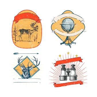 빈티지 로고 및 스티커 컬렉션