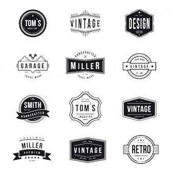 Vintage logos collection