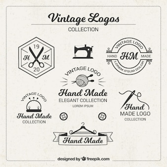 Vintage logos for crafts