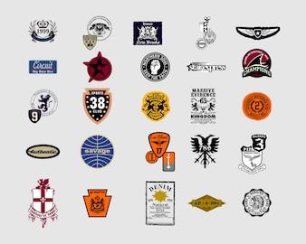 Винтажные шаблоны дизайна логотипов задать вектор