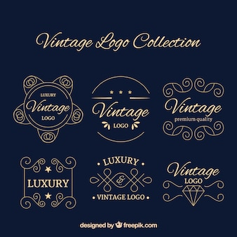 Vintage logotype collection