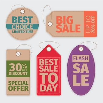Vintage looking sale tags collection