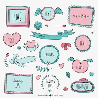 Vintage любовь кадров и украшения