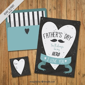 Vintage and lovely father's day card with a envelope